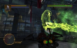 Screenshot from Stranger's Wrath showing the ghostly non-corporeal form of the Gloktigi.