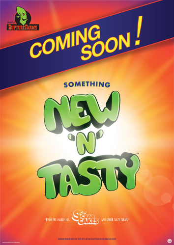 Johnny Eveson's poster design for New 'n' Tasty.