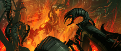 Paramites flee a burning RuptureFarms