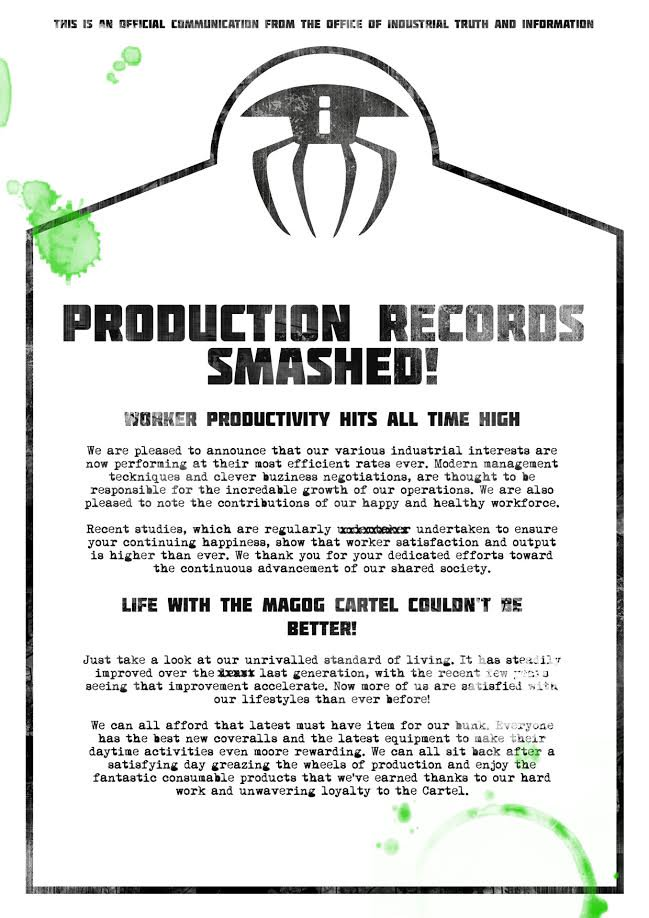 Flyer 3 sent by the Magog Cartel trough the hacked @OddworldInc account